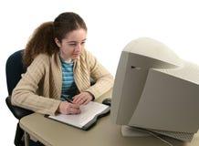De Concentratie van de grafische Tablet Stock Foto