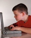 De Concentratie van Internet Stock Foto's