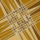 De concept de voronoi poly modèle tesselated géométrique abstrait bas rendu 3d Photos stock