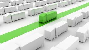 De concepten van de logistiekindustrie Stock Afbeelding