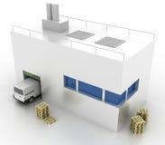 De concepten van de logistiekindustrie Stock Afbeeldingen