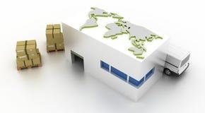 De concepten van de logistiekindustrie Royalty-vrije Stock Afbeelding