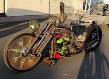 De concepteur d?coration moderne de moto plus longtemps images libres de droits