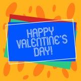 De conceptuele hand die tonend Gelukkig Valentine S is Dag schrijven Bedrijfsfoto die wanneer de minnaars hun affectie uitdrukken vector illustratie