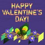 De conceptuele hand die tonend Gelukkig Valentine S is Dag schrijven Bedrijfsfototekst wanneer de minnaars hun affectie met uitdr vector illustratie