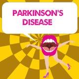 De conceptuele hand die tonend Parkinson s is Ziekte schrijven Het zenuwstelselwanorde van de bedrijfsfototekst die beïnvloedt vector illustratie