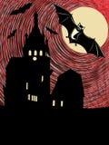De conceptuele illustratie van Halloween Stock Foto