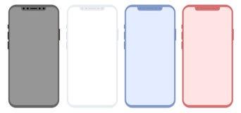De conceptuele moderne telefoon, bespot omhoog, geïsoleerd op witte achtergrond Stock Foto's
