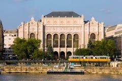 De Concertzaal van Vigado in Boedapest Royalty-vrije Stock Foto's
