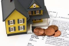 De Conclusie van de Rente van de hypotheek stock afbeeldingen