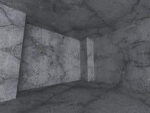 De concrete Abstracte Achtergrond van de Muurarchitectuur Lege Zaal Inter Royalty-vrije Stock Foto