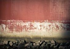 De concrete achtergrond van de meertrosmuur Stock Fotografie