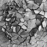 De concrete chaotische abstracte achtergrond van de explosievernieling Royalty-vrije Stock Foto