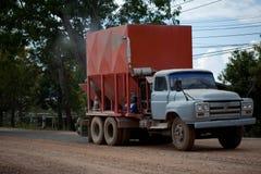 De concrete mixer van de vrachtwagen Stock Foto's