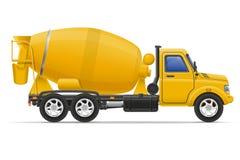 De concrete mixer vectorillustratie van de ladingsvrachtwagen Stock Foto