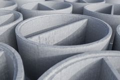 De concrete ringen van het schachtmangat - het 3D Teruggeven Stock Afbeelding