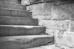 De Concrete stappen van de steen Stock Afbeelding