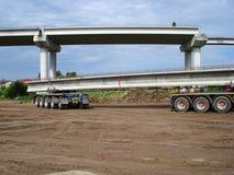 De concrete straal van het vrachtwagenvervoer stock foto's