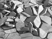 De concrete vernieling barstte donkere oppervlakte Royalty-vrije Stock Foto