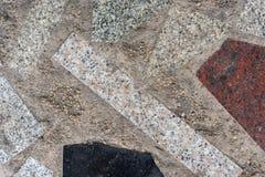 De concrete vloer van het steengraniet Stock Fotografie