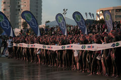 Begin van Ironman 2013 stock foto's
