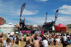 De concurrentie BMX in Gestage Boardmasters Royalty-vrije Stock Foto's