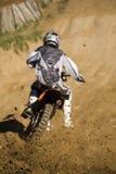 De concurrentie dwarsland van Motobike Stock Foto's