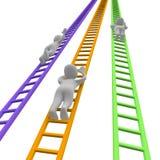 De concurrentie en ladders Stock Afbeeldingen