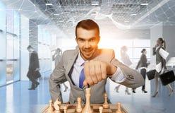 De concurrentie en strategie in zaken Gemengde media Royalty-vrije Stock Fotografie