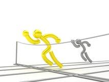 De concurrentie van de atletiek stock illustratie