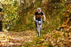 De concurrentie van de bergfiets Stock Foto