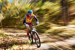 De concurrentie van de bergfiets Royalty-vrije Stock Foto