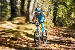 De concurrentie van de bergfiets Royalty-vrije Stock Fotografie
