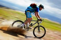 De concurrentie van de de bergfiets van het avontuur Stock Fotografie