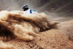 De concurrentie van de motocross Stock Foto