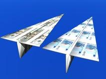 De concurrentie van het geld Stock Foto