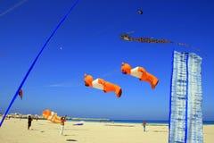 De concurrentie van het strandvliegers van de zomer, Trapan royalty-vrije stock fotografie