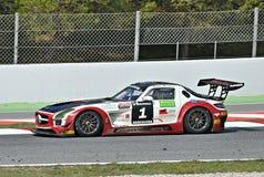 De concurrentie van Mercedes sls Stock Foto's