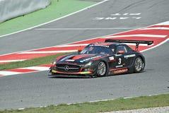 De concurrentie van Mercedes sls Stock Afbeeldingen