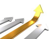De concurrentie van pijlen stock illustratie