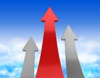 De concurrentie van pijlen Stock Afbeelding