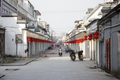 De concurrentie van qingshui oude straat in wuhustad Stock Foto