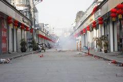 De concurrentie van qingshui oude straat in wuhustad Stock Afbeelding