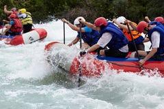De concurrentie van Rafting Royalty-vrije Stock Foto