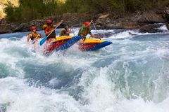 De concurrentie van Rafting Stock Foto's