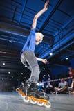De concurrentie van Rollerblading Stock Foto