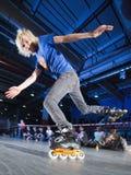 De concurrentie van Rollerblading Stock Foto's