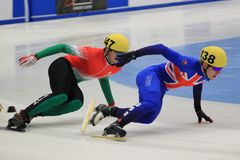 De concurrentie van Shorttrack Stock Foto's