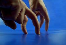 De concurrentie van vingers Stock Foto's