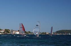 De concurrentie van Windsurfing Stock Afbeelding